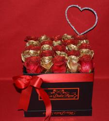 LUSSO PIATTO HEART RED & GOLD