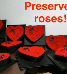 PRESERVED ROSES HEART SHAPED