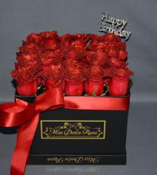 LUSSO PIATTO RED HAPPY BIRTHDAY