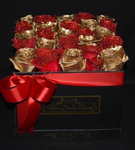 Lusso Piatto Gold Red